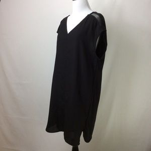 Scotch & Soda Dress Black Mixed Media Net Insets
